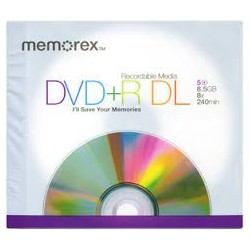 MEMOREX DVD+R DUAL LAYER 8X...