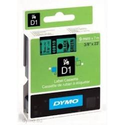 DYMO  FITA 9mm (VERDE/PRETO)
