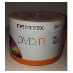 MEMOREX DVD+R 4.7GB 16X...
