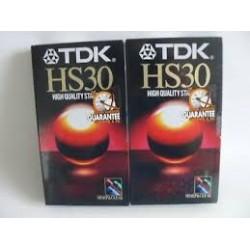 TDK CASSETE VIDEO VHS 30M