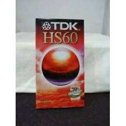 TDK CASSETE VIDEO VHS 60M