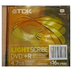 TDK DVD+R LIGHT SCRIBE CX.10UN